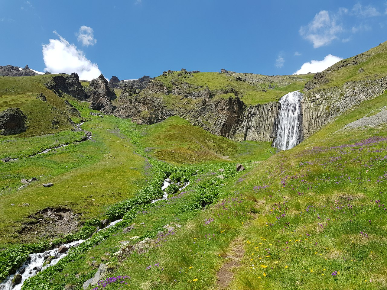 Водопад Терскол